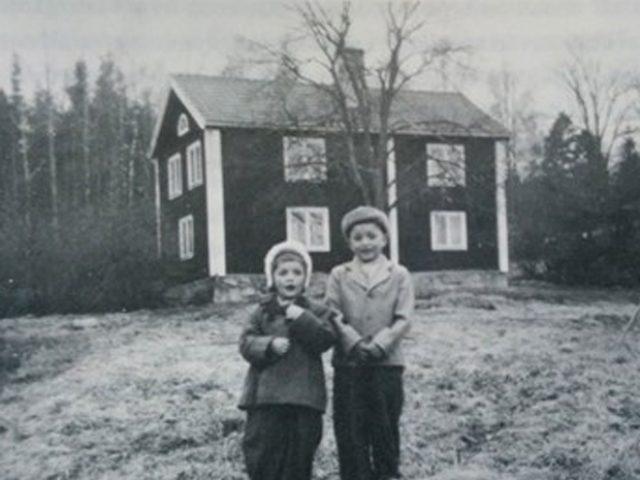 Fallängetorp lantgård på 50-talet.